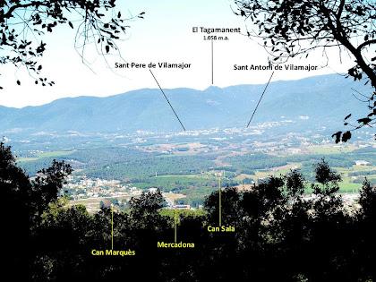 Llinars del Vallès i els seus voltants des de la Vinya Vella del Guinart