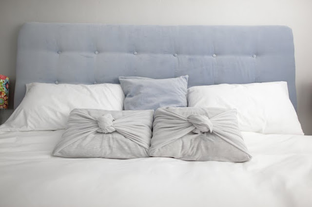 how to make a no-sew pillow