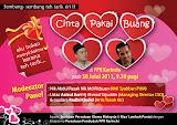 Forum Cinta Pakai Buang pada 30 Julai 2011 (Ahad) 9.30pg di PPR Kerinchi