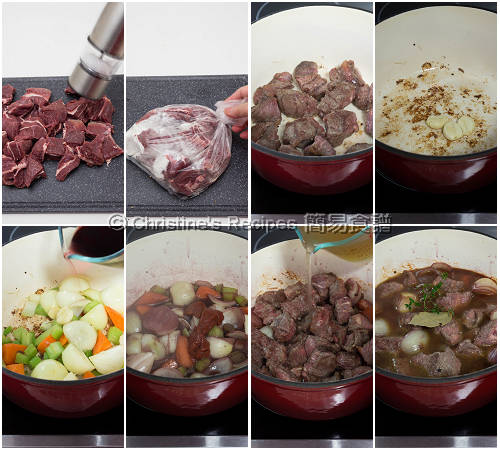 紅酒燜牛頰肉製作圖 Beef Cheek Stew with Red Wine  Procedures