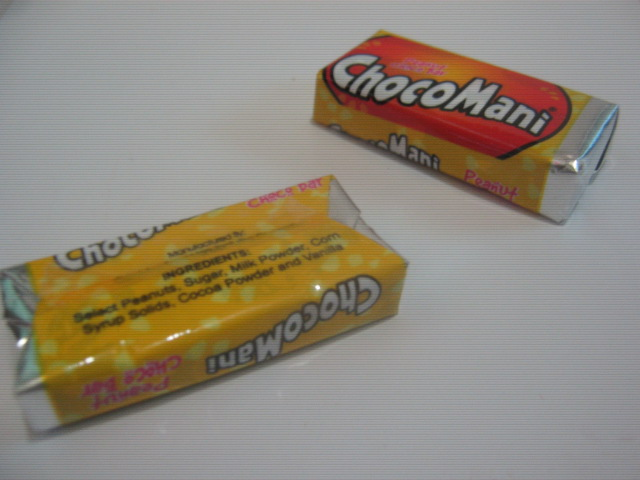 Candyline Food Manufacturing Corporation's Peanut Choco Bars ChocoMani Individual Piece Packaging - Sari-Sari Store Archives