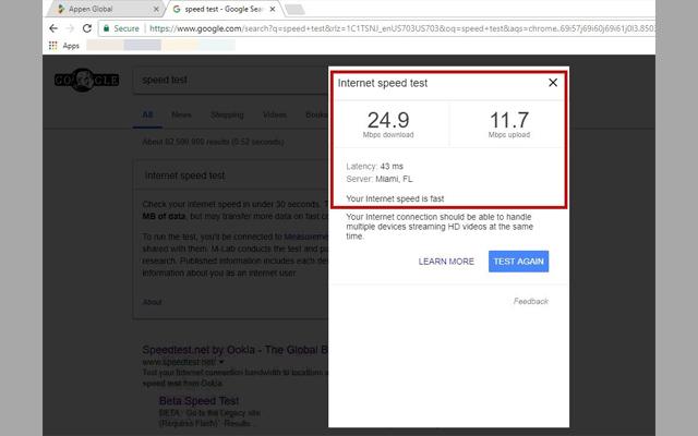 الإنترنت الحقيقية Speed Test Tool image4.jpg