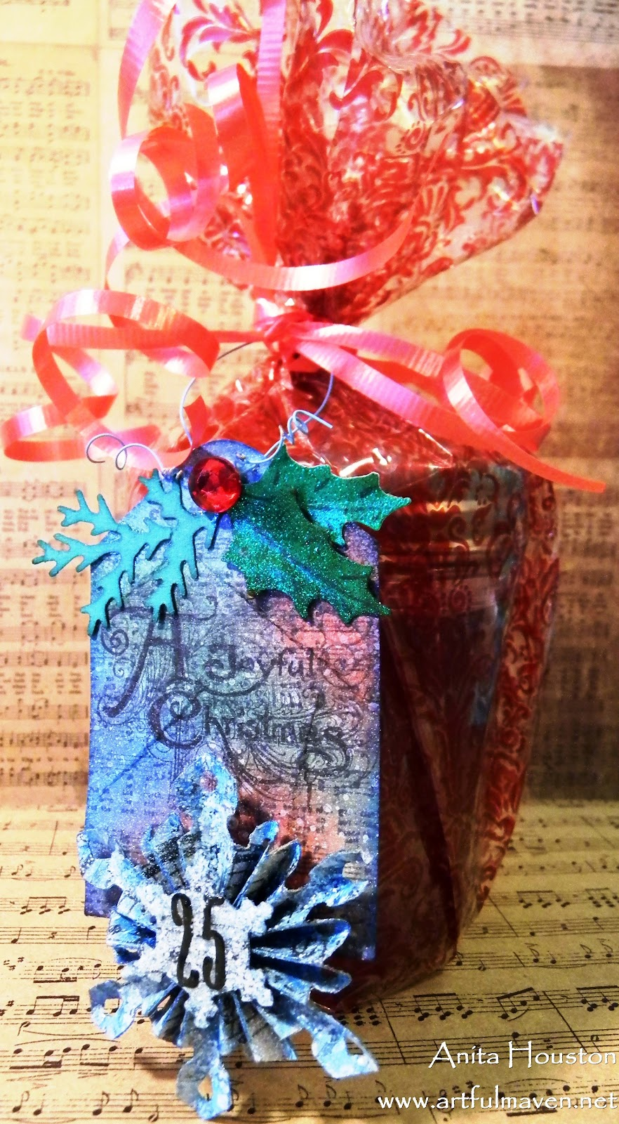 Decorate Jelly Jars Christmas Tissue Paper