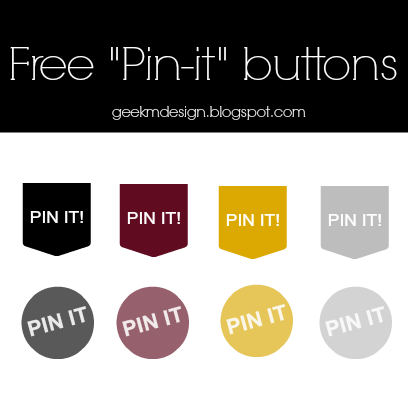 """Free """"Pin-it!"""" buttons #1"""