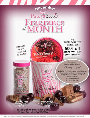Pink Zebra November Special Fragrance of the month 2013