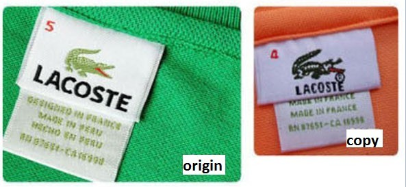 How do you identify fake Lacoste?