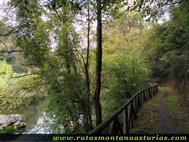 Rio Nora junto a senda de Priañes