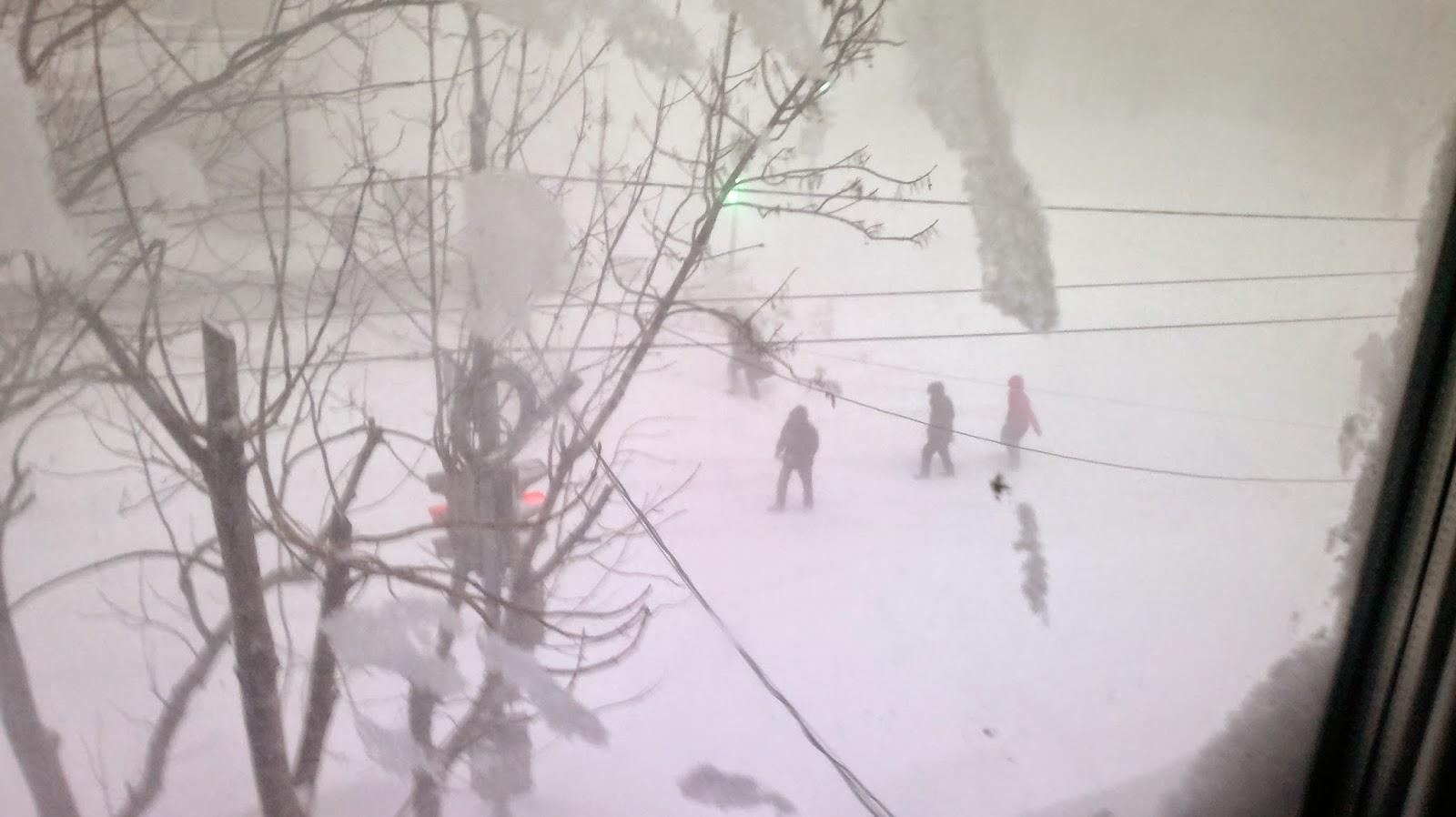 Большой снегопад в Комсомольске на Амуре