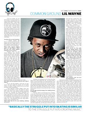 fotos raras de lil wayne entrevista para the skateboard mag