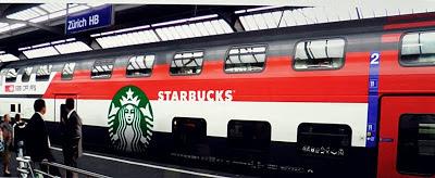 Starbucks x SBB: Wagon-Design aussen