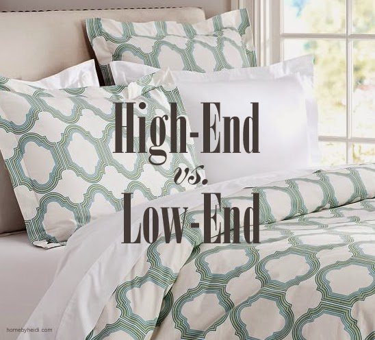Home by heidi decorating high end vs low end for Decor vs decoration