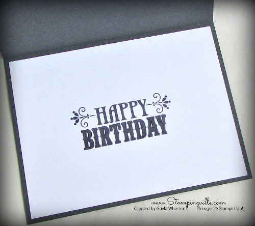 Inside of Masculine Birthday Chevron card