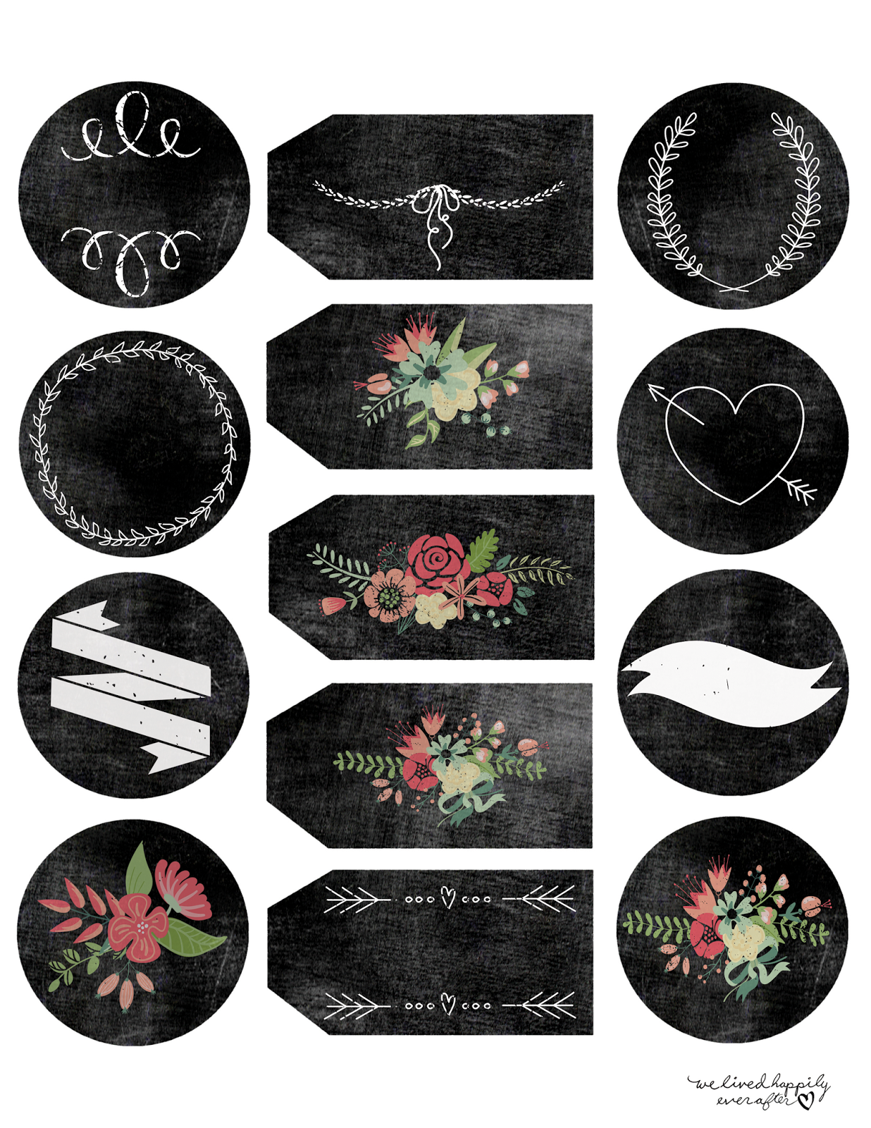 This is a photo of Nifty Printable Chalkboard Labels