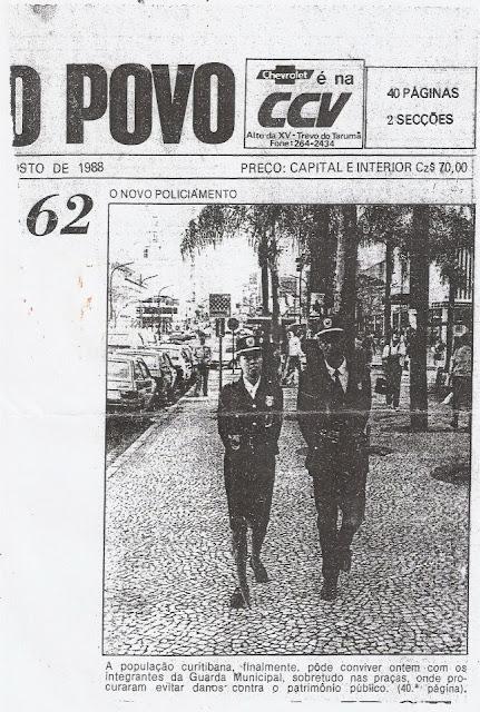 GUARDA DE CURITIBA EM 1988