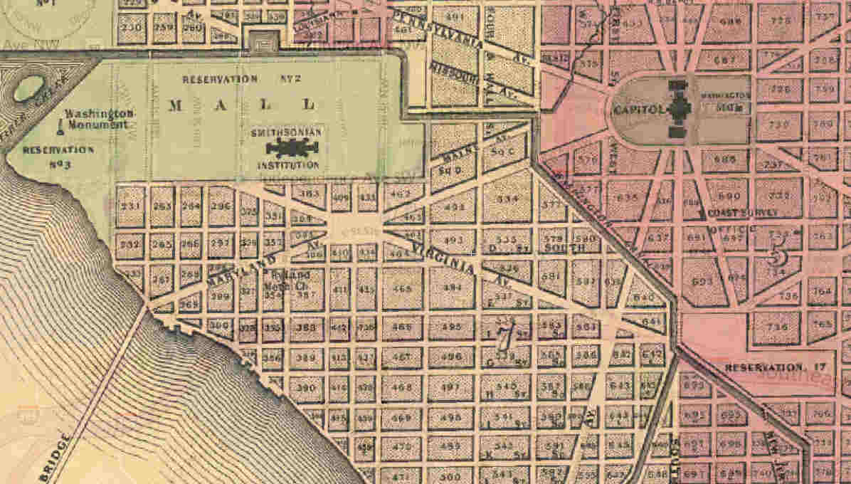 Civil War Washington DC The Washington Canal Cesspool In The - Washington dc map civil war