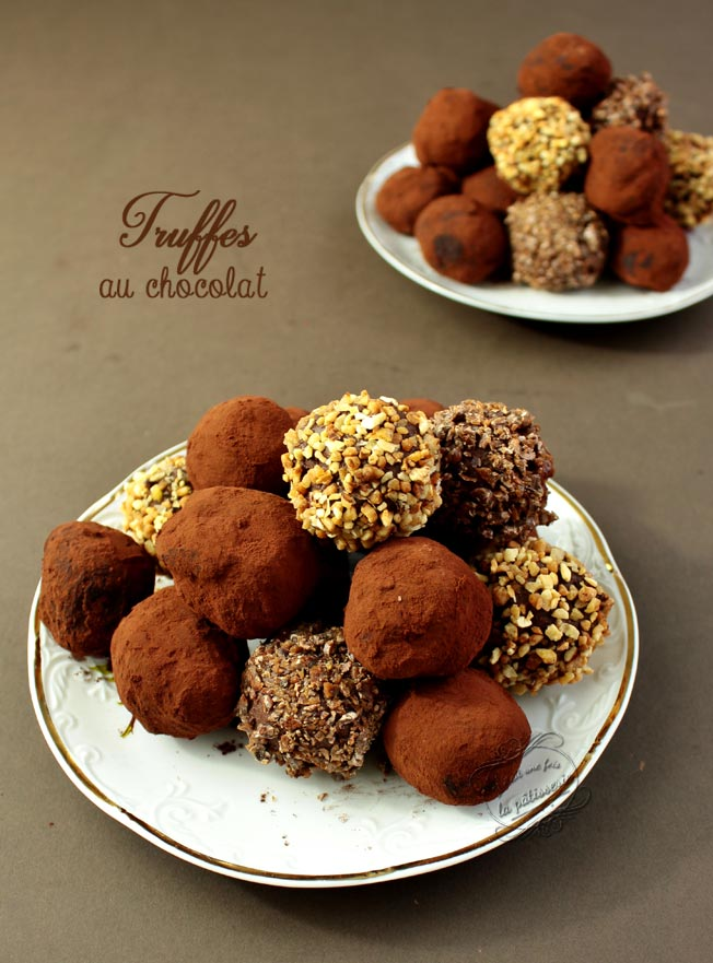 Les truffes au chocolat il tait une fois la p tisserie - Combien de temps pour qu un noyer donne des noix ...