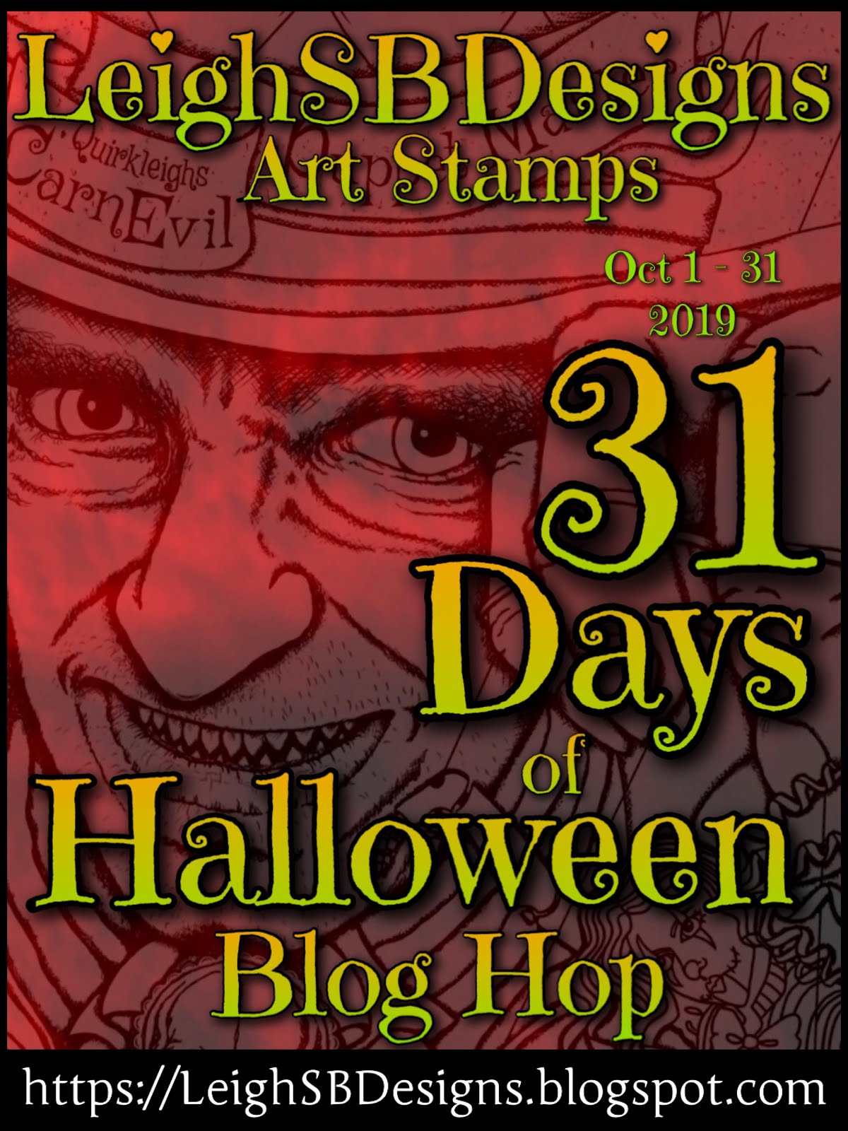 31 Days of Halloween at Leigh S-B Designs  - Begins Oct. 1, 2019