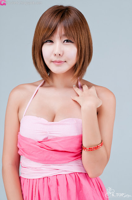 5 Ryu Ji Hye in Pink-Very cute asian girl - girlcute4u.blogspot.com