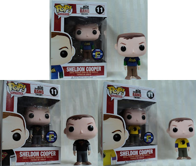 San Diego Comic-Con 2012 Exclusive The Big Bang Theory Sheldon Pop! Television Vinyl Figure by Funko - Batman, Superman & Hawkman T-Shirt Variants