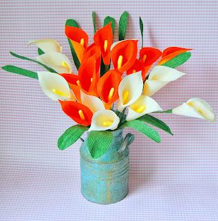 crepe paper calla lily