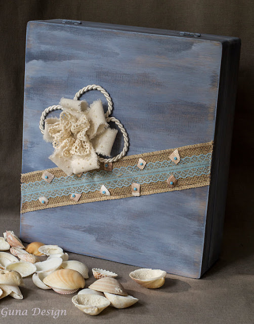 Beach style wedding card box  gunadesign guna andersone