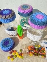 Tapas para botes a crochet
