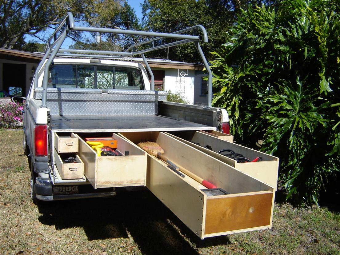 The mcgowan family chronicles new camp trailer idea - Truck bed box drawers ...