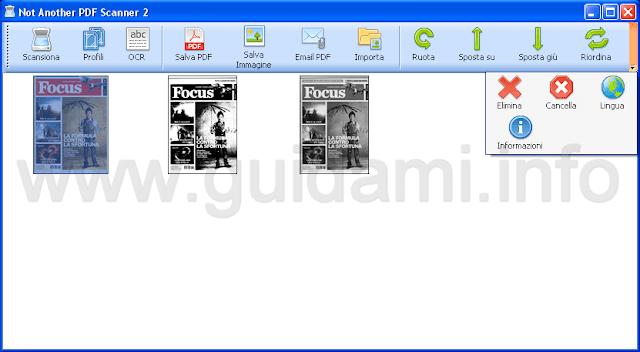 NAPS2 editor gestione documenti scannerizzati