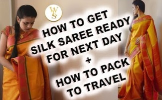 How to drape a saree | how to pack saree for travel