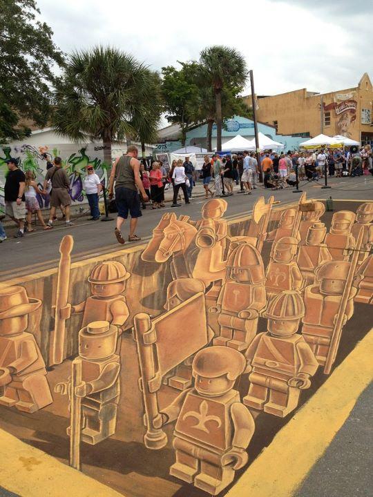 Lego Sidewalk Chalk Art | Lego Educational Resource
