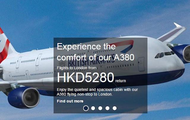 英航 促銷香港來回倫敦,低至HK$5280起(連稅HK$7527),10月至明年3月出發。