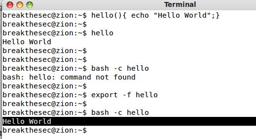 bash-export-function