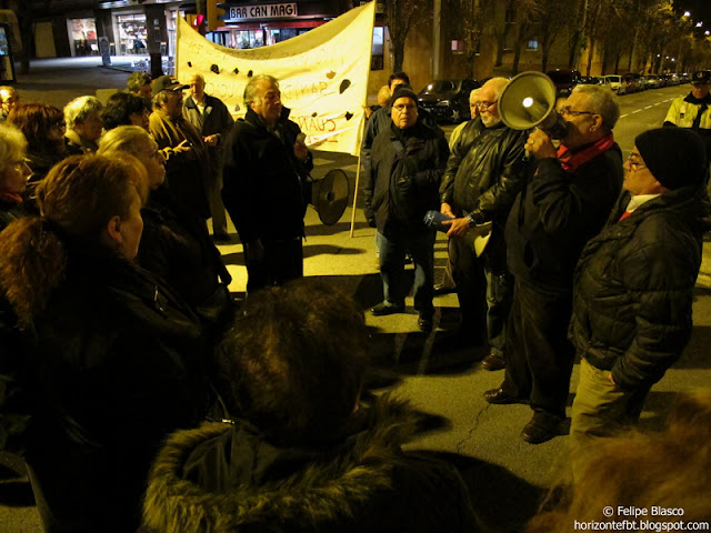 Protesta del CAP Guineueta, a aprincipios de año.
