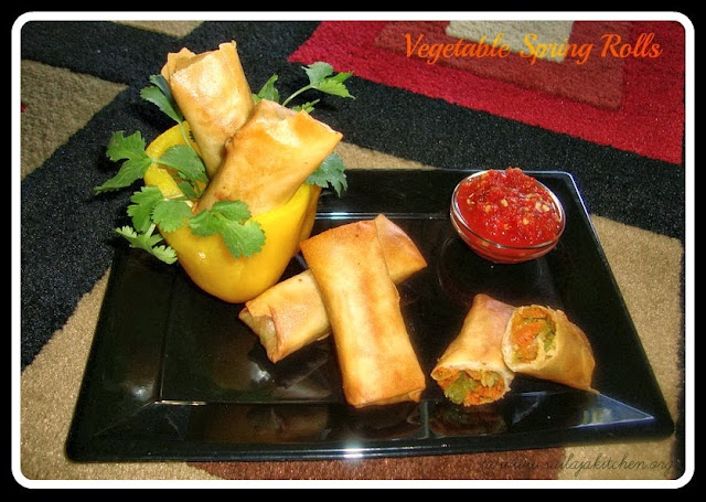 Vegetable Spring Rolls / Crispy Chinese Style Spring Rolls recipe / Chinese Spring Rolls Recipe-How to make Spring Rolls.