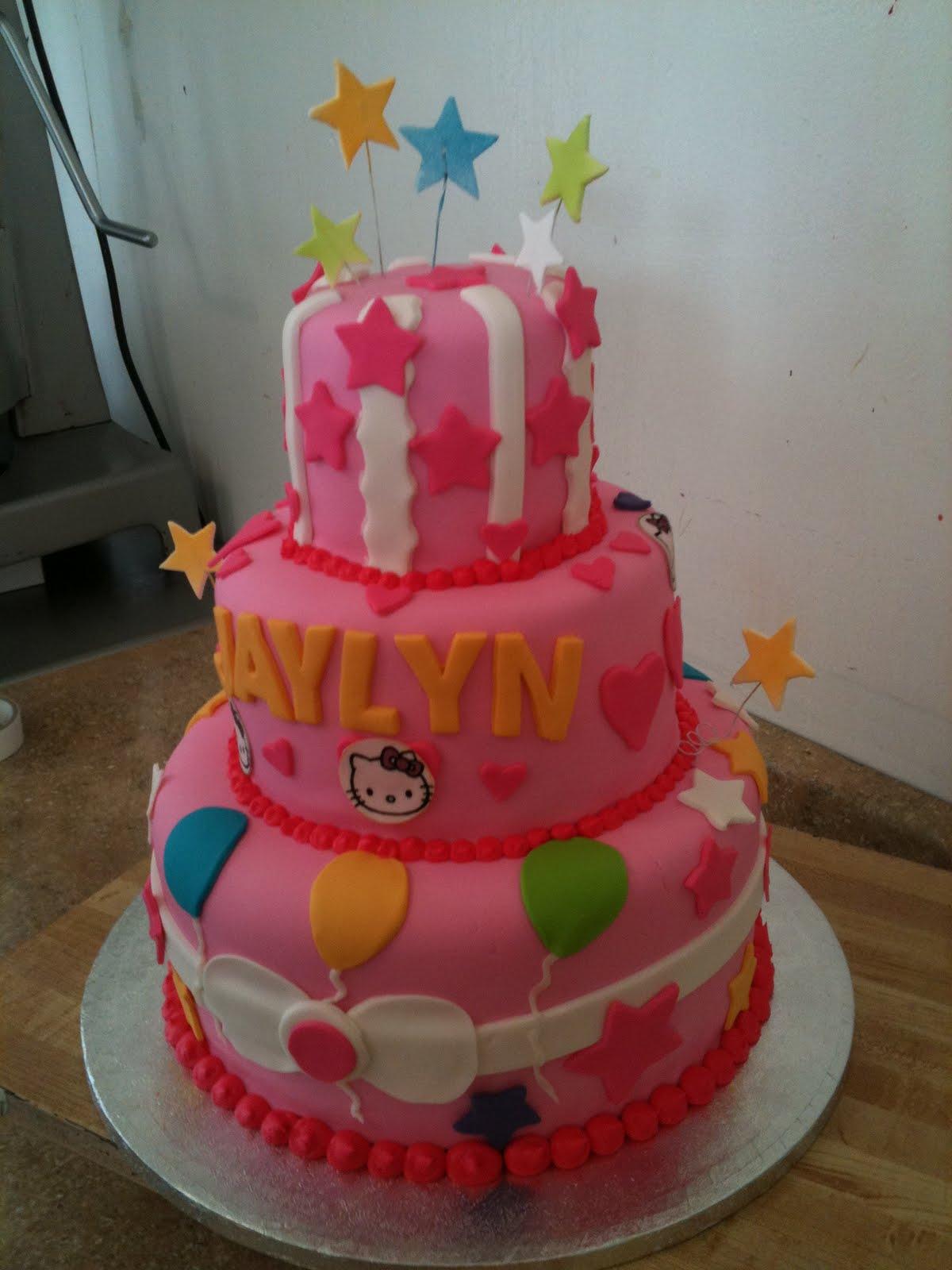 Hectors Custom Cakes: 3 tier hello kitty party