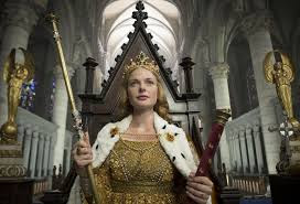 Elizabeth Woodville at her coronation from the BBC TV series