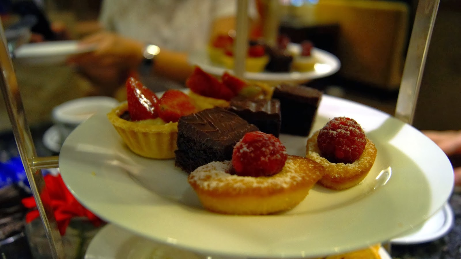 Fruit Tartlets, Chocolate Brownies and Raspberry Financiers