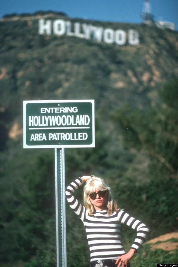 Debbie Harry Near The Hollywood Sign Ca1977