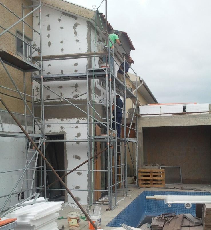 Oficina de obras revestimento de fachadas com sistema capoto - Oficina de obra ...