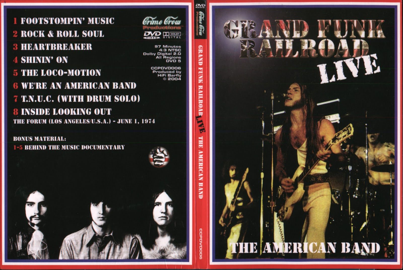 Jolly Roger Bootlegs Grand Funk Railroad Live The Forum 1974