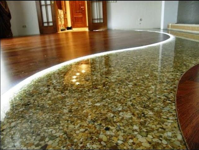 Self Leveling Floor Compound : Awesome d flooring art and bathroom floor murals