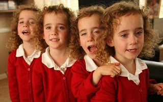 Identical Quadruplets First Day Start At A School