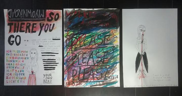 drie tekeningen