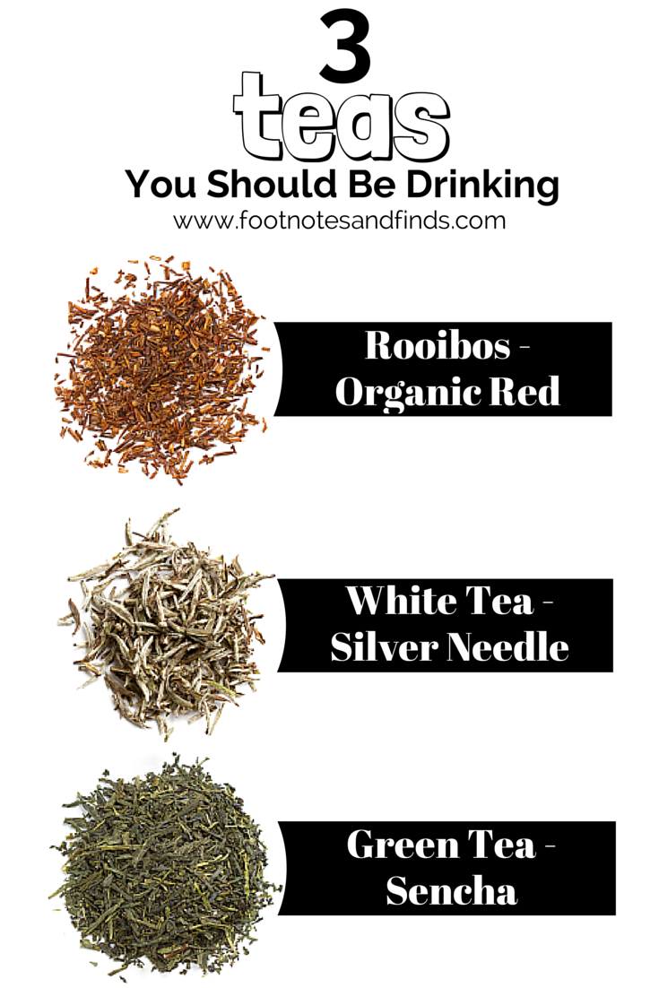 3 teas for healthy living http://www.footnotesandfinds.com