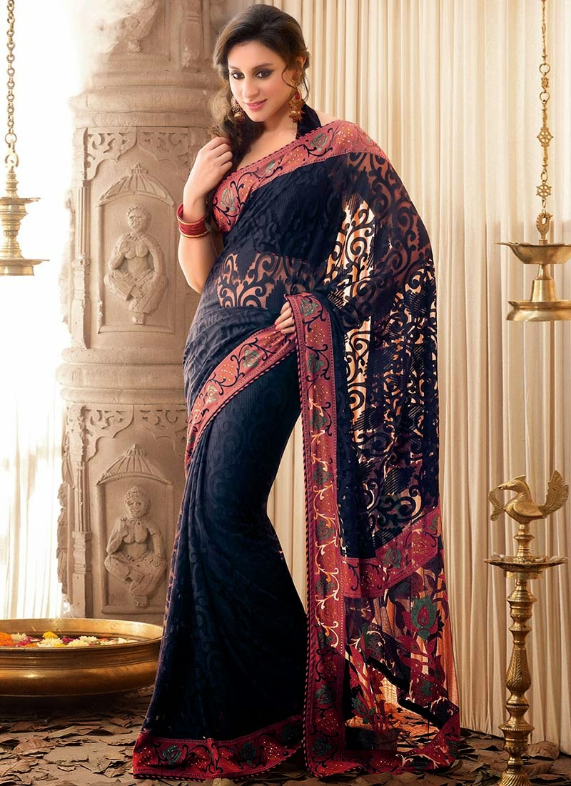 Latest Fashion Trends Latest Sttylish Indian Designer Sarees Designs 2013 Collection