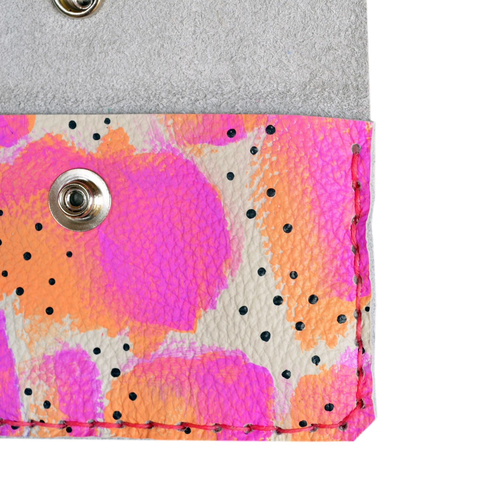 Boo and Boo Factory: New Handmade Colorful Painted Leather Wallets ...