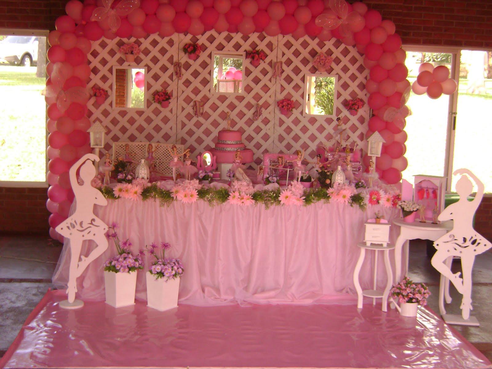 decoracao festa barbie : decoracao festa barbie:linda festa barbie bailarinas foi o tema da festa da anna domingo 17