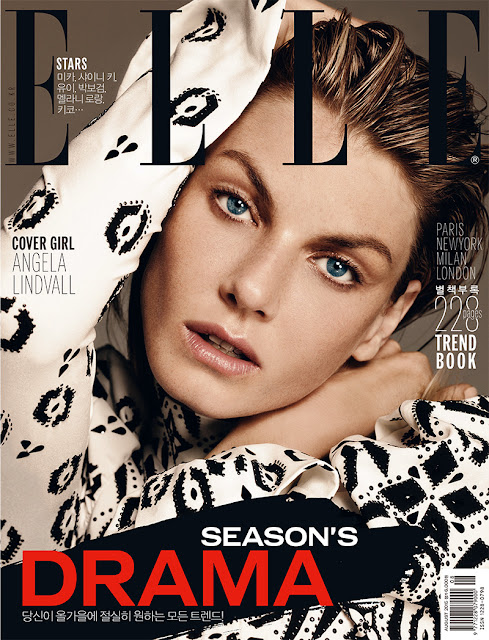 Actress, Model @ Angela Lindvall for ELLE Korea, August 2015