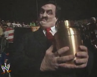 WWF / WWE - Wrestlemania 7: Paul Bearer leads The Undertaker into battle to begin his famous Wrestlemania winning streak