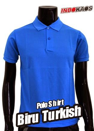 Polo Shirt Polos Biru Turkish
